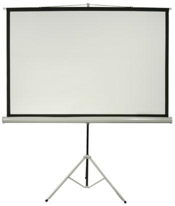 Projection-screen wtih-tripod-stand