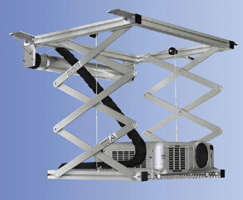 scissor-lift-for projector-with wireless-and-wire remote